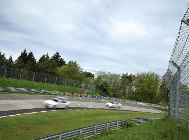 BMW M3 Coupés in convoy on the Nordschleife