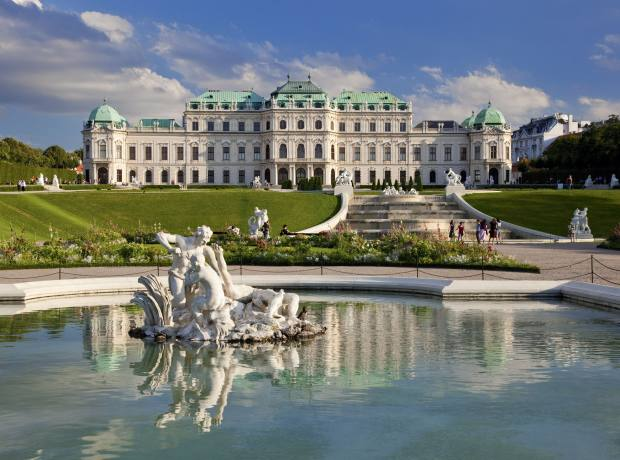 The Belvedere Palace and gardens