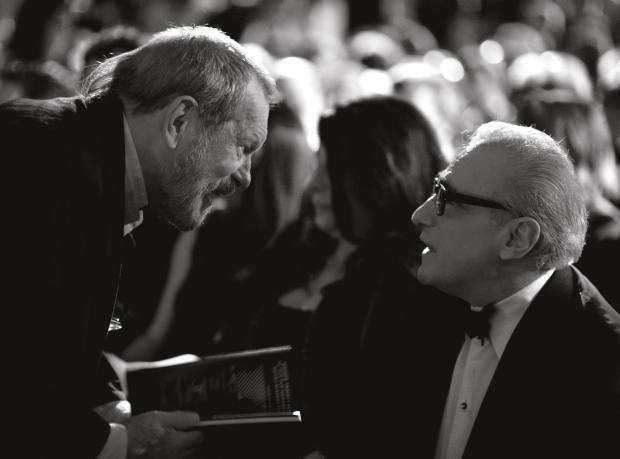 Terry Gilliam talking to Martin Scorsese before the 2012 Bafta Film Awards