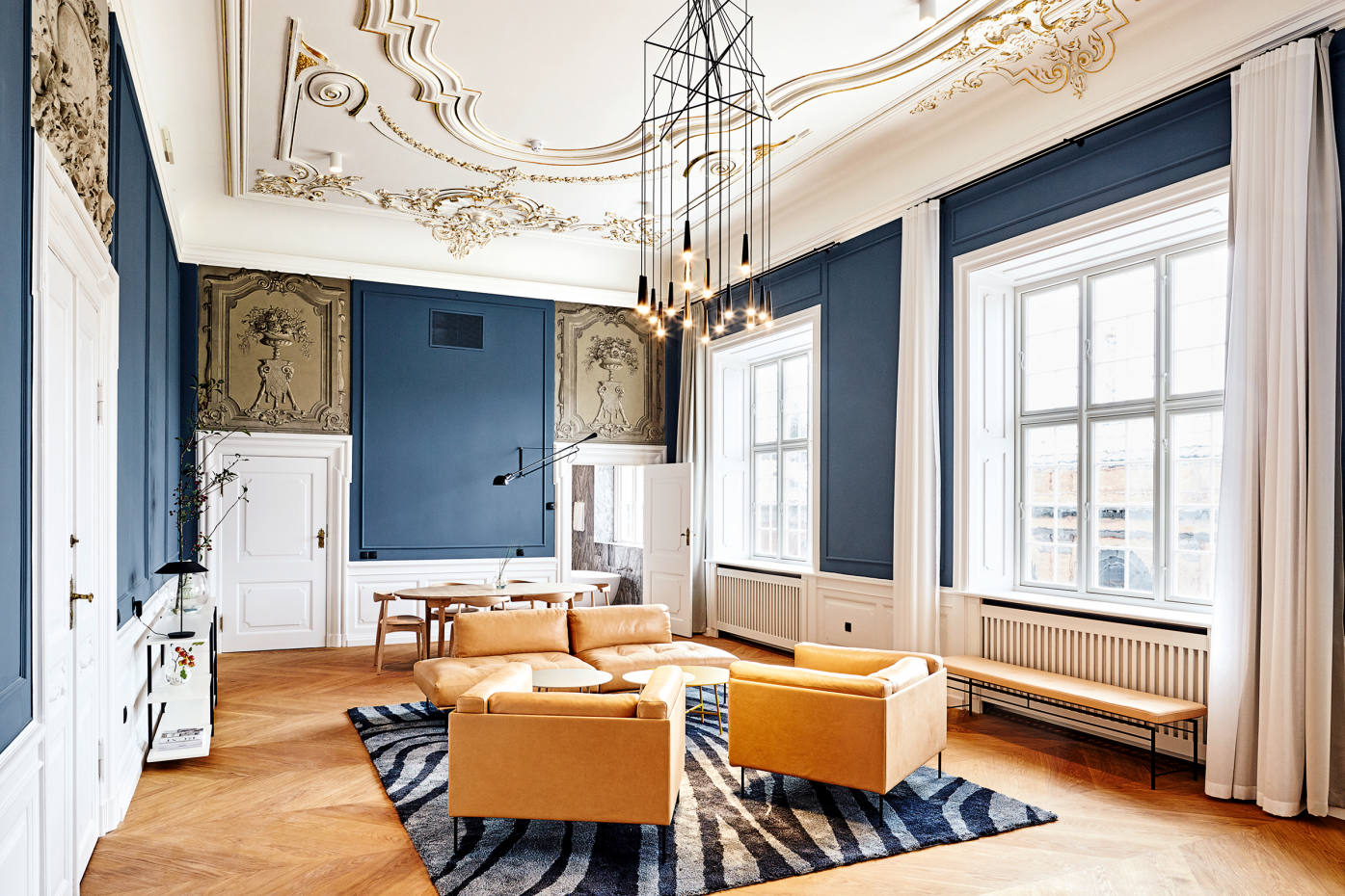 Nobis Hotel Copenhagen is set in the former Royal DanishAcademy ofMusic and retains many of the building's stunning original features