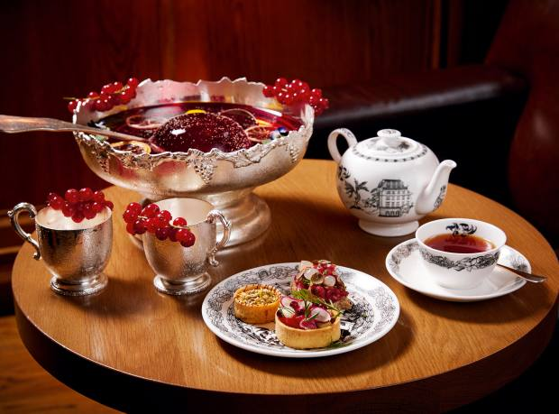 Scandal Water afternoon tea, £35, served at London Edition hotel
