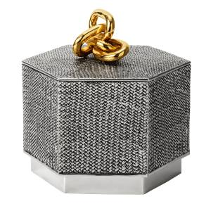 Estrid Ericson Panama box in pewter (15cm x 14cm), about £1,370