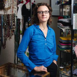 Eliza Poklewski Koziell in her London store, Felt.