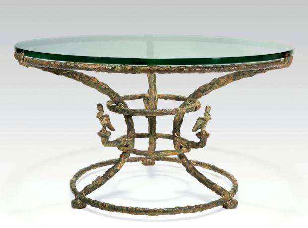 diego giacometti, table basse aux harpies, bronze, collection brollo - © artcurial