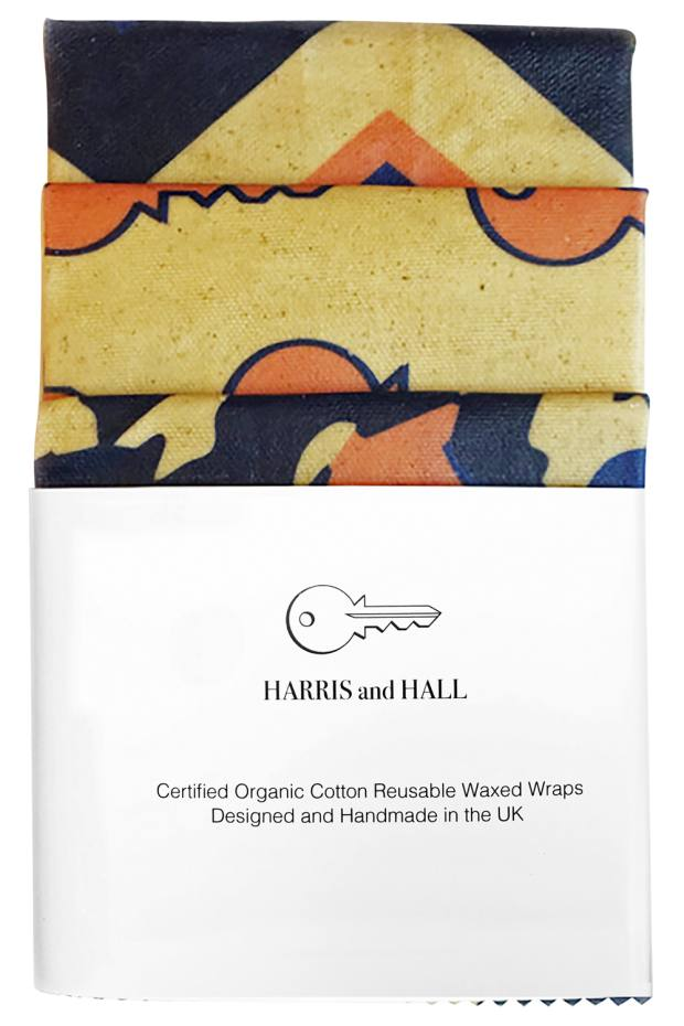Harris and Hall beeswax wraps, £20 for three: an attractive alternative to cling film
