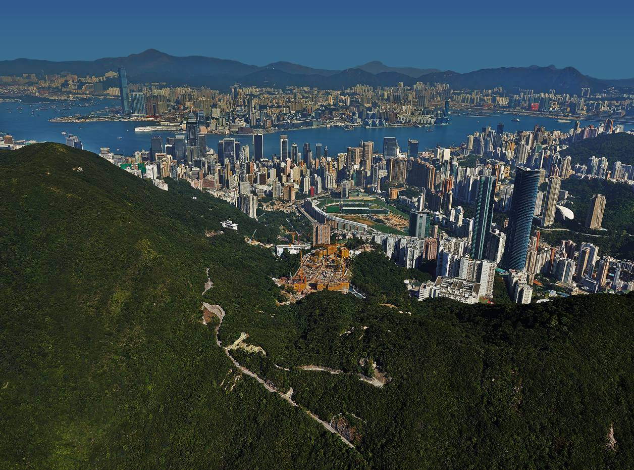 Hong Kong's The Peak, where Wheelock Properties' Mount Nicholson site is offering apartments and houses from an as yet unconfirmed price of about £50.4m