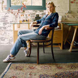 Lucy Akhurst in her studio on the Highclere Estate