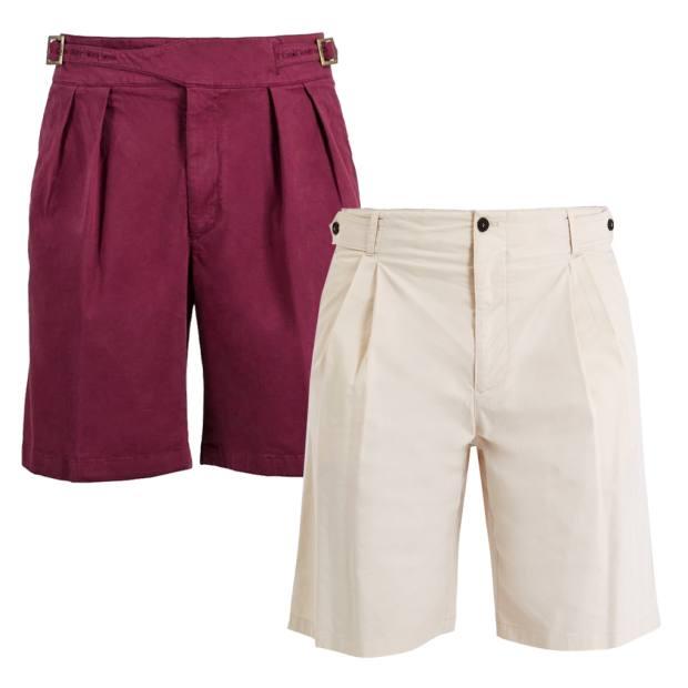 d7c060a57b From left: Rubinacci cotton Manny shorts, €280. Giorgio Armani cotton shorts ,