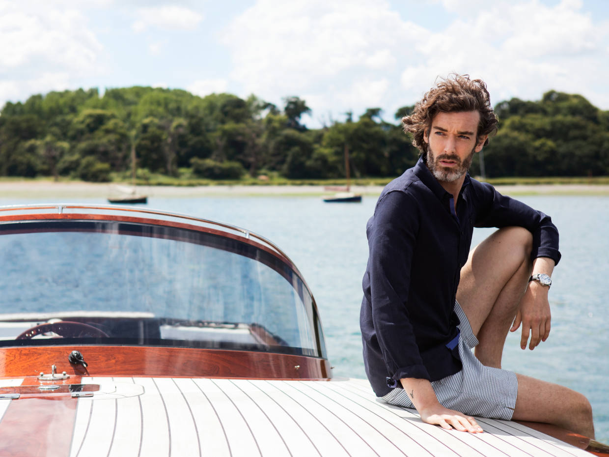 Inspired by clipper sailing ships, Hemingsworth's latest swim short collection was designed alongside Savile Row tailors