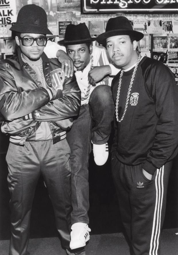 1985: Run DMC wearing Adidas Superstar