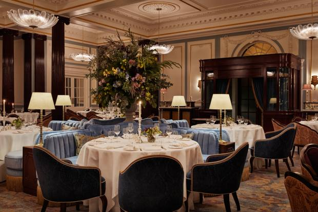 The dining room of The Strathearn restaurant
