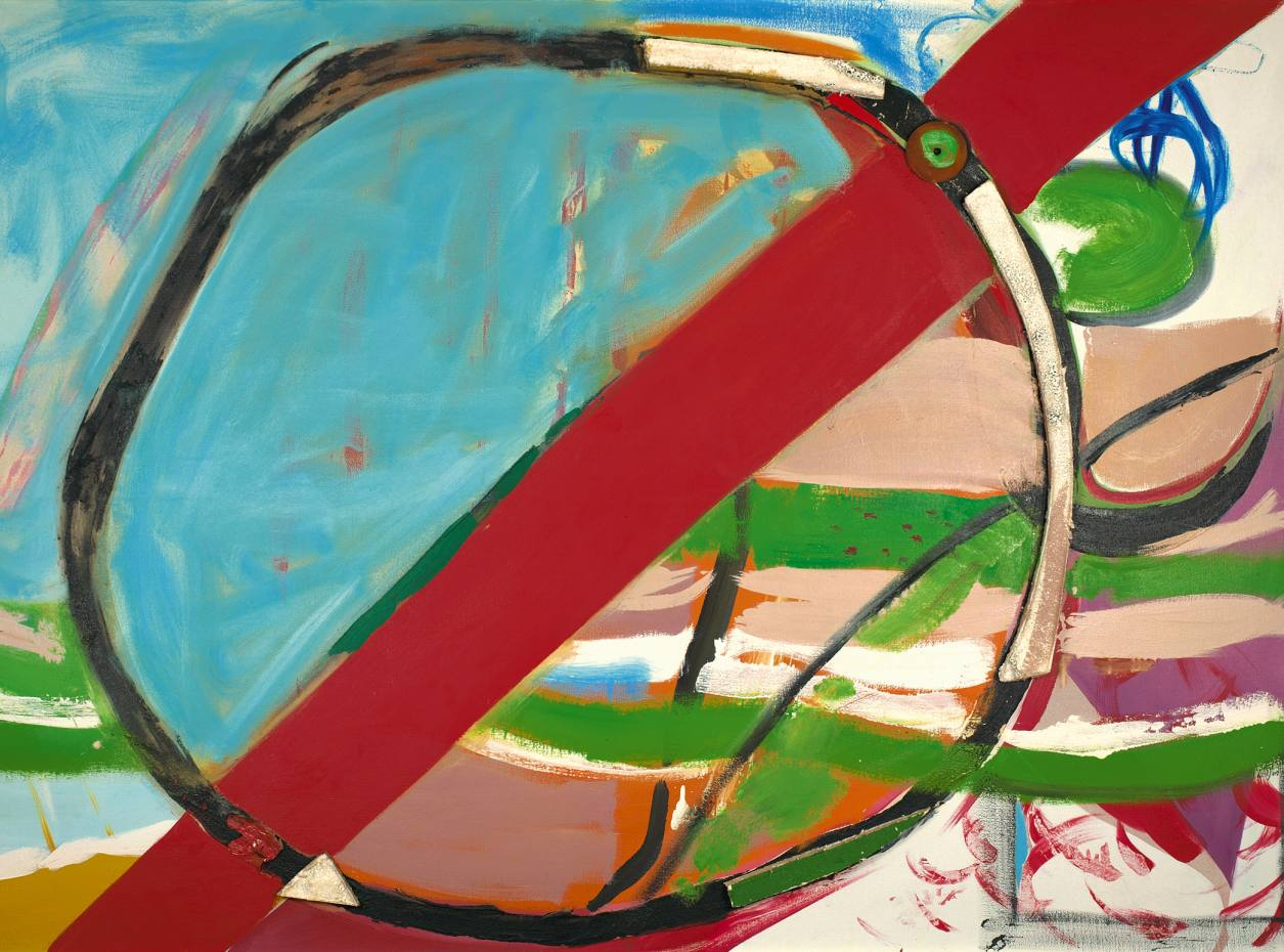 Climb Out by Peter Lanyon was sold for £150,000 by Gimpel Fils.