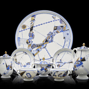 A Lomonosov Porcelain Factory tea service from 1931, which is going to auction at Bonhams and has an estimate of £40,000-£60,000