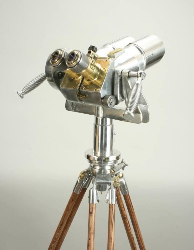 Vintage Polish ex-military observation aluminium binoculars, £4,300