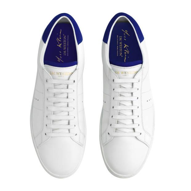 JMWeston calfskin Bleu Klein sneakers, £430