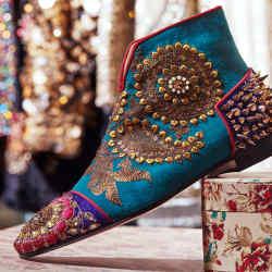 Christian Louboutin x Sabyasachi boots