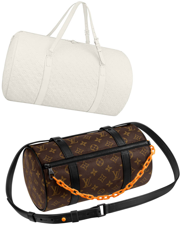 From top: Louis Vuitton Messenger Mini Polochon, £1,290, and the Taurillon Monogram Polochon, £5,650