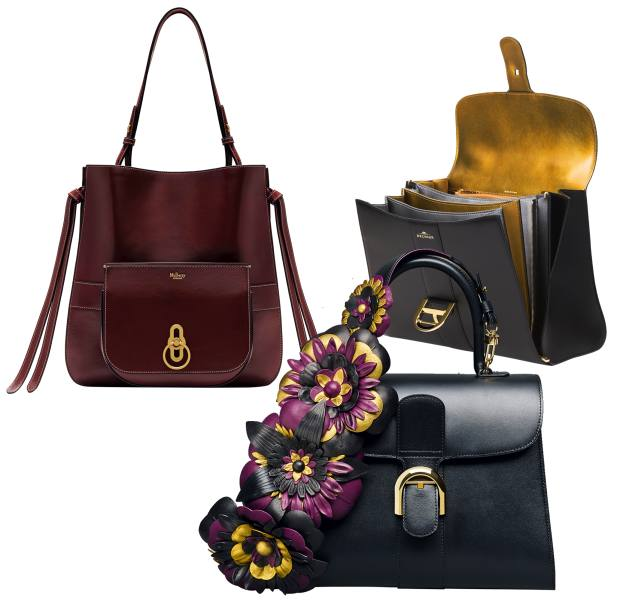 2e0e673ca8 Clockwise from top left  Mulberry calfskin Amberley Hobo with detachable  mini bag
