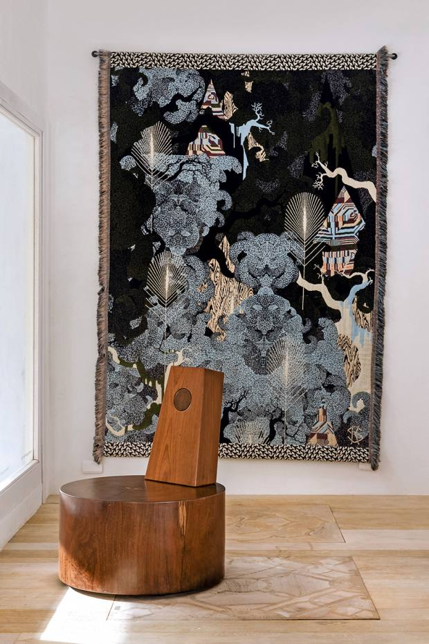 Kustaa Saksi mohair, cotton, linen, viscose and Lurex Hiding in Plain Sight wall hanging, price on request
