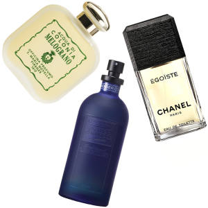 Clockwise from top: Acqua di Colonia Melograno, €100 for 100ml EDC. Chanel Egoïste, £57 for 50ml EDT. Dior Eau Sauvage, £85 for 100ml EDT