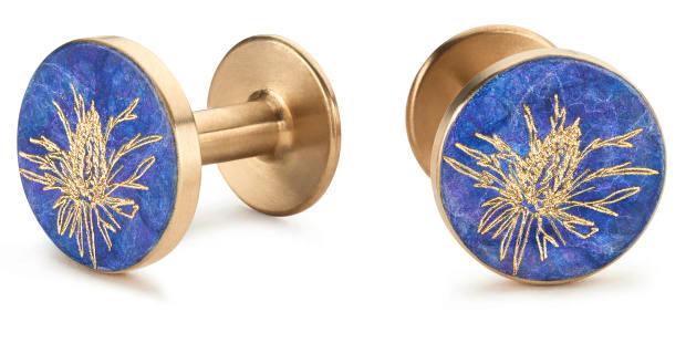 Jessica Bird Thistle cufflinks, £210