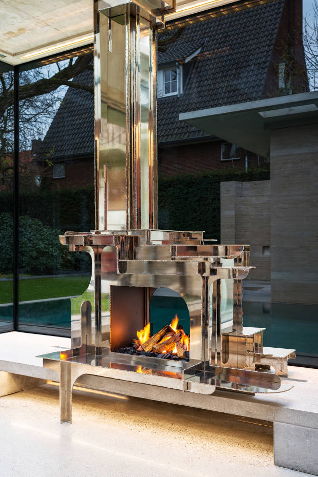 ProjectJoost steel fireplace, price on request