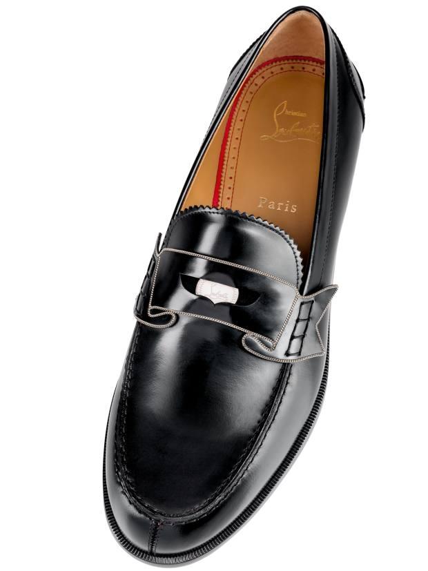 Christian Louboutin patent calfskin loafer, £815