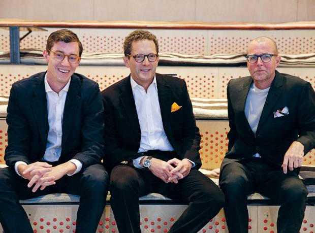 From left: NeueHouse co-founders James O'Reilly, Joshua Abram and Alan Murray