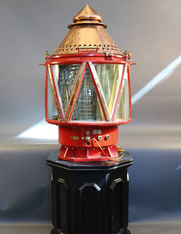 Early 1900s copper and brass lighthouse beacon, $31,500 from Lannan Gallery