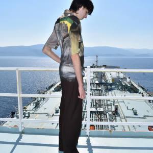 Serapis Maritime x Arch silk crepe shirt, €350