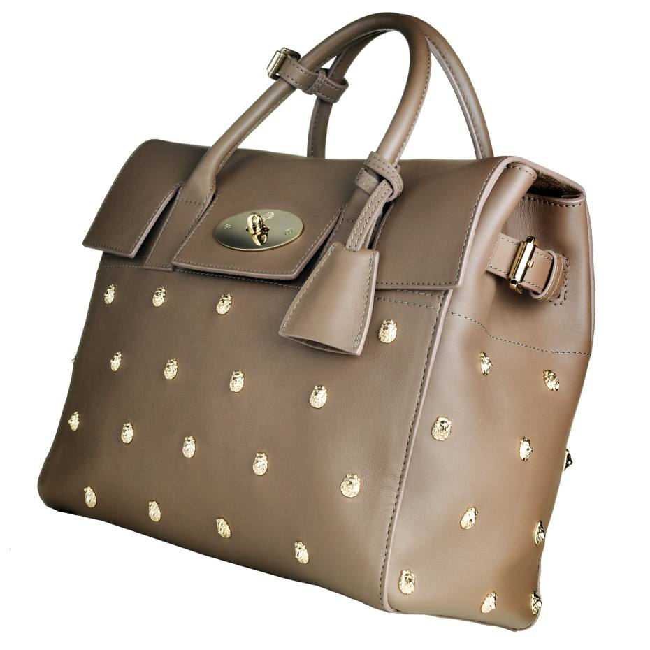 Mulberry Cara Delevingne bag in calfskin and gold-finished brass, £1,600. Also in other colours/materials/styles