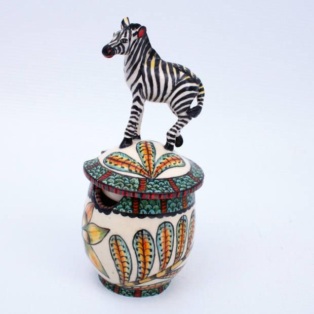 Ardmore Ceramic Art ceramic zebra mustard pot, £250