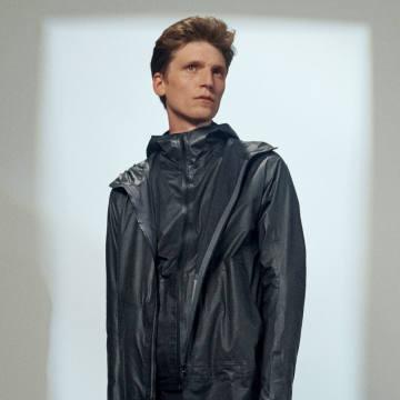 Black hooded Rhomb jacket, £530