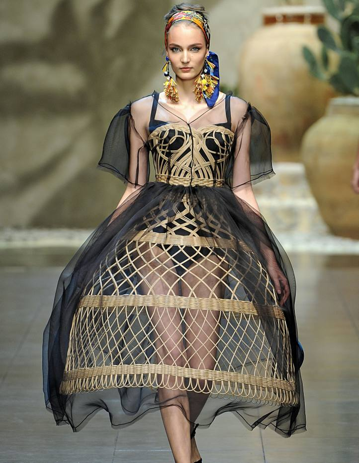 Dolce & Gabbana wicker and crinoline dress from its spring/summer 2013 collection