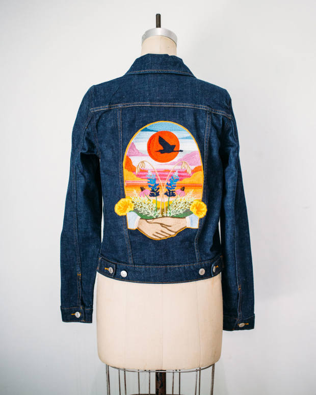 One-offdenimjackets cost $1,500 each