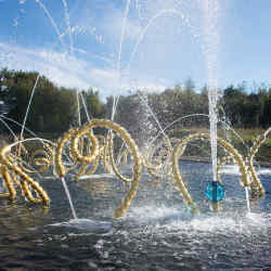 Jean-Michel Othoniel's Les Belles Danses in The Water Theatre gardens at Versailles