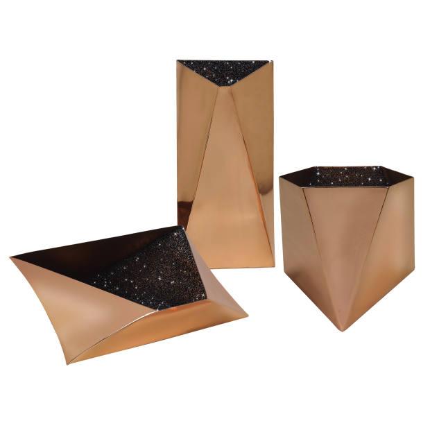 David Adjaye for Gaia&Gino copper and Swarovski-element Star vessels, €8,400 for three