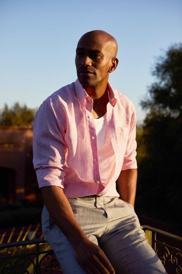 Ticking-stripe shirt