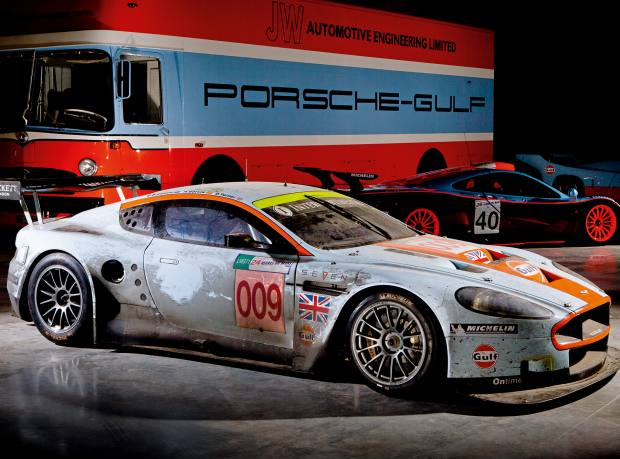 The Aston Martin DBR9 as it finished Le Mans in 2008