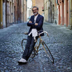 Massimo Bottura in the city of Modena