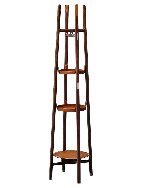 Hermès Canaletto walnut and calfskin Vestiaire coat rack, from £7,350
