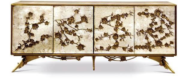 Koket brass, wood andmirror Spellbound cabinet, €22,730