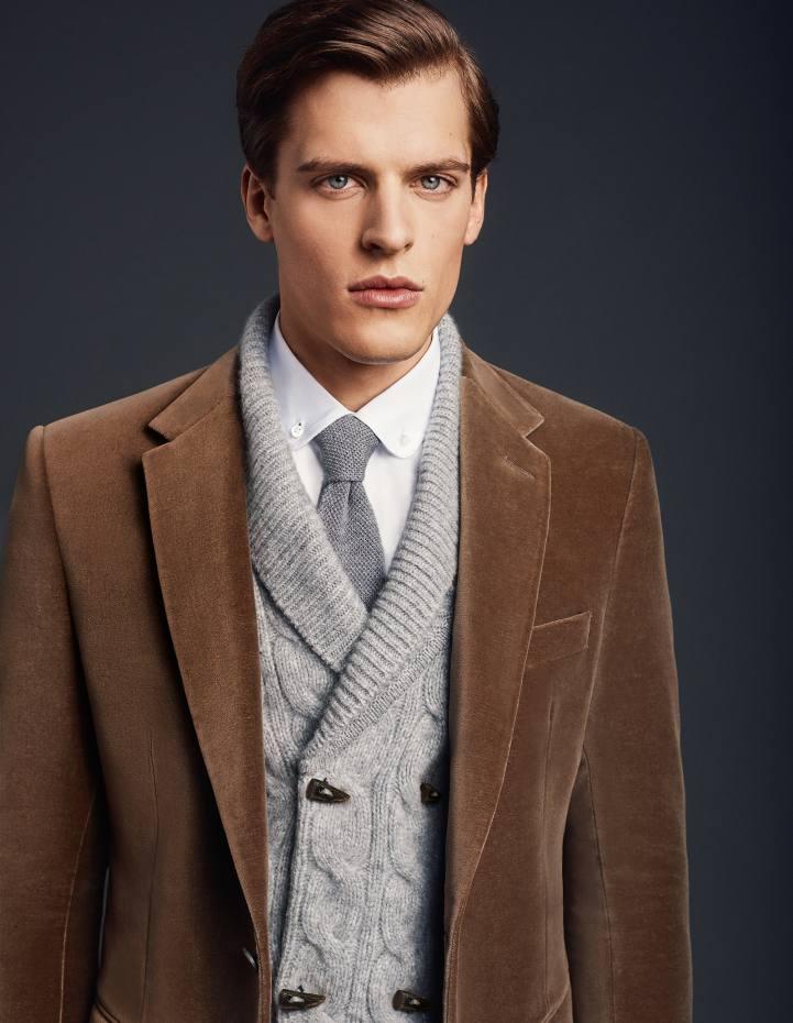 Ede & Ravenscroft cashmere cardigan, £550