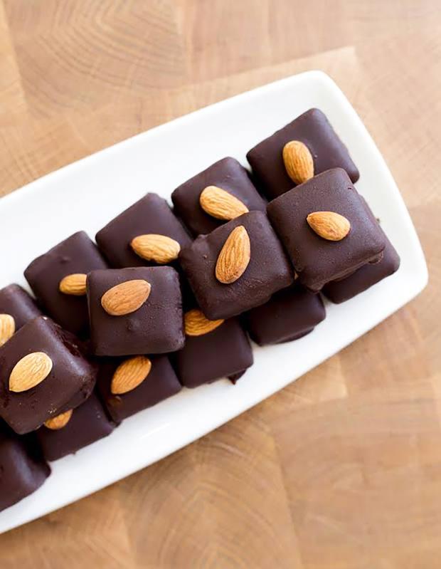Café Gratitude almond I Am Joy chocolates, $3 each