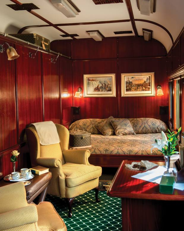 The onboard accommodation has an old-school atmosphere
