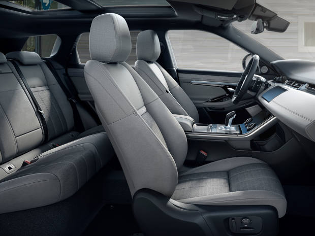 "The interior boasts sustainable fabrics and is fully ""connected"", with a state-of-the-art twin-screen infotainment system and integrated WiFi"