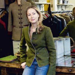 Katherine Hooker in her London shop.