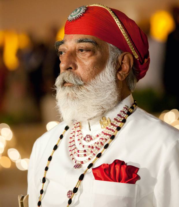 One of the author's surprise encounters was with Maharana Arvind Singh Mewar of Udaipur