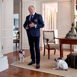 Alberto Morillas at home in Geneva