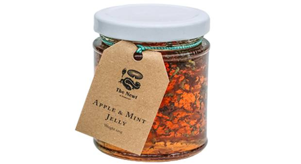 The Newt Apple & Mint Jelly, £8; fresh food can be delivered within a 10-mile radius of the estate and non-perishables will be sent to the rest of the UK
